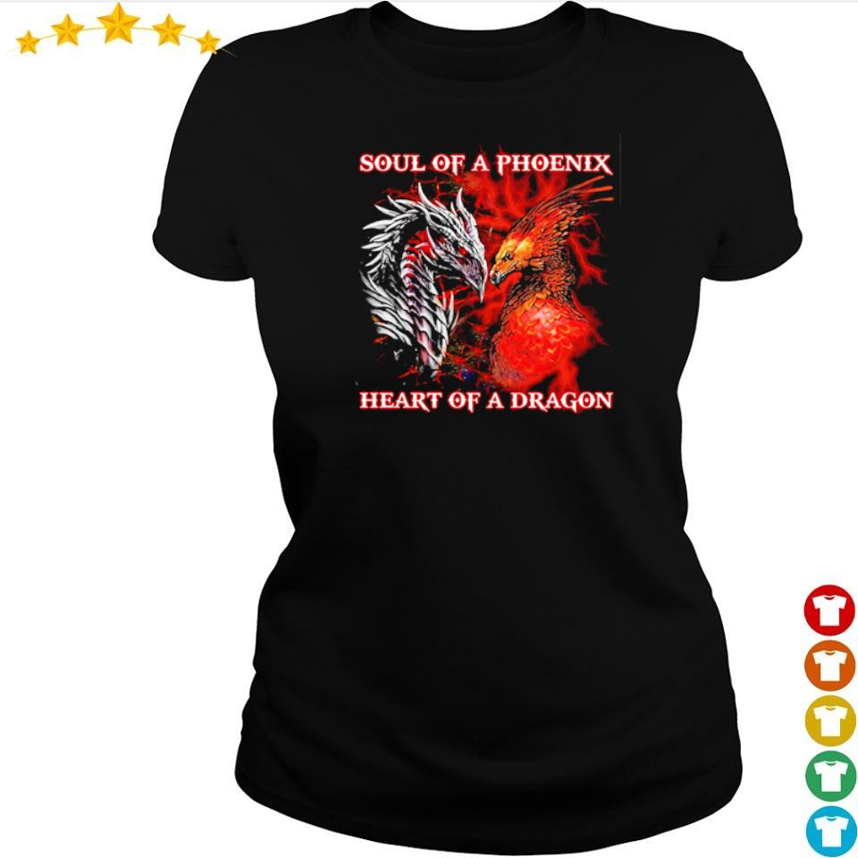 Soul of a phoenix heart of a dragon s ladies tee