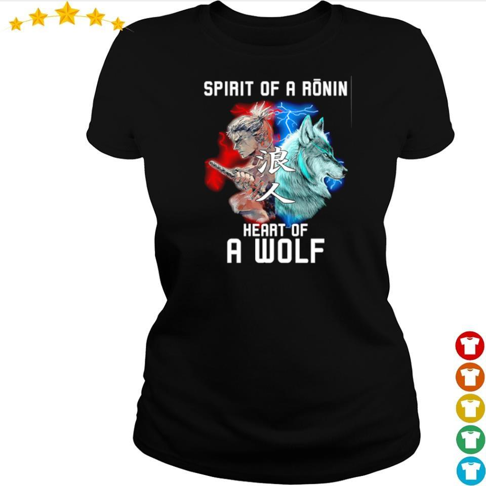 Spirit of a ronin heart of a wolf s ladies tee