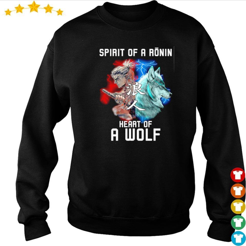 Spirit of a ronin heart of a wolf s sweater