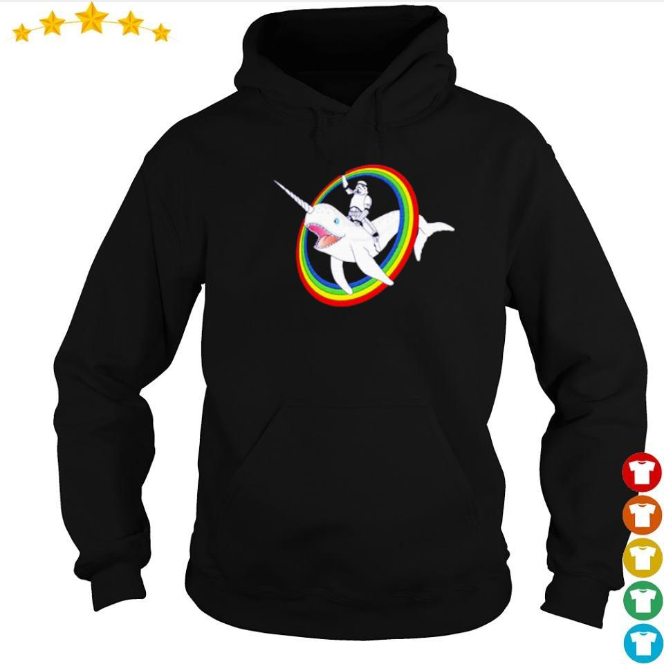 Stormtrooper riding unicorn whale s hoodie