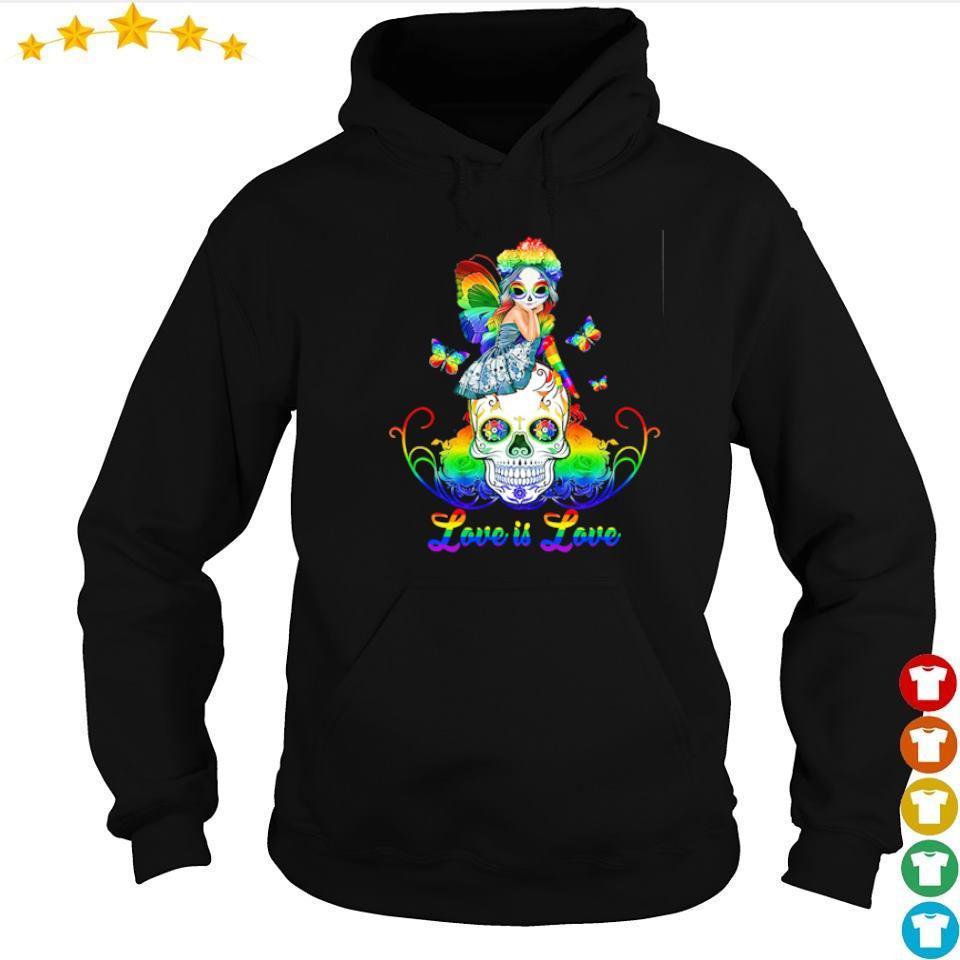 Sugar skull and Fairy love is love s hoodie