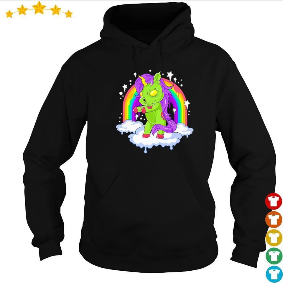 Unicorn zombie zombicorn Halloween s hoodie