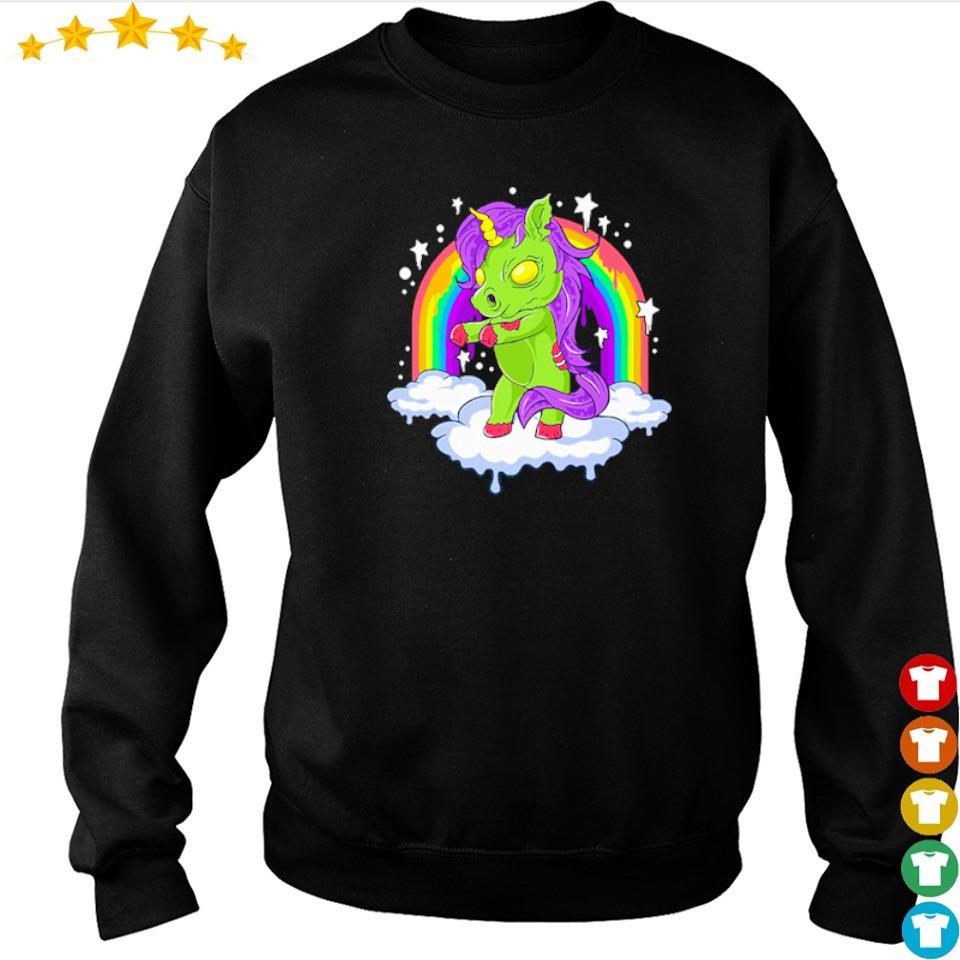 Unicorn zombie zombicorn Halloween s sweater