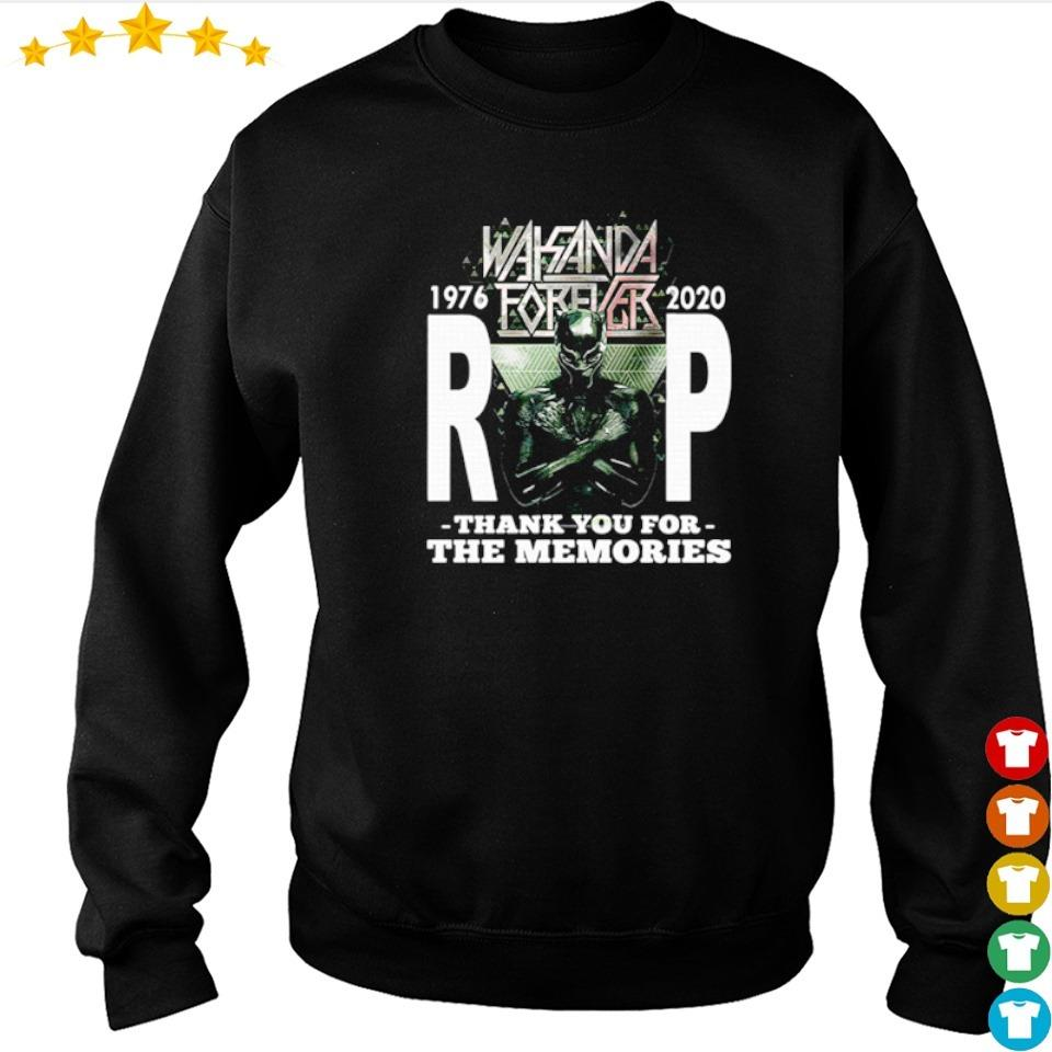 Wakanda Forever RIP Black Panther 1976 2020 thank you for the memories s sweater
