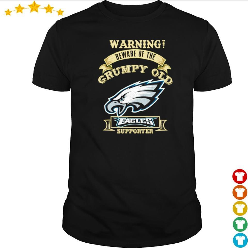 Warning beware of old Philadelphia Eagles supporter shirt