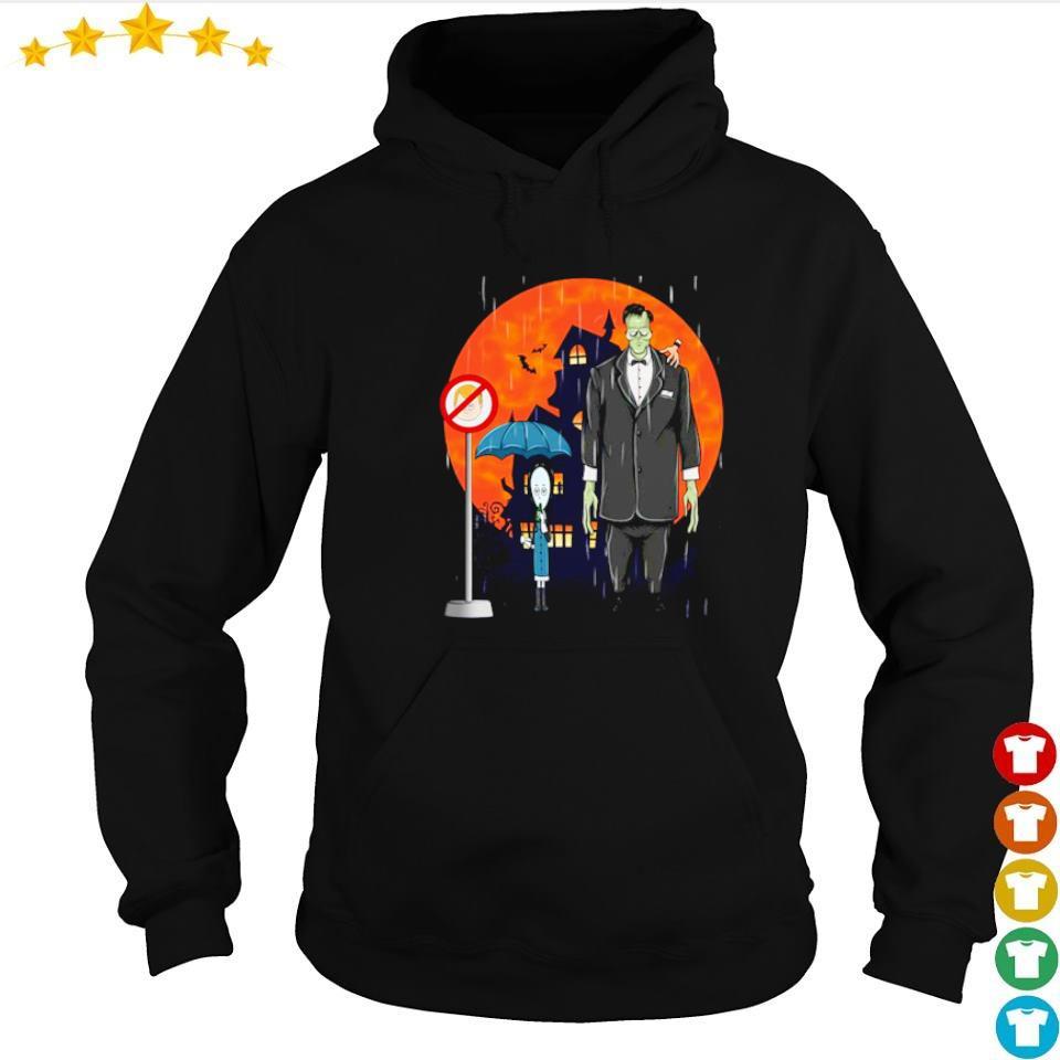 Wednesday and Frankenstein happy Halloween s hoodie