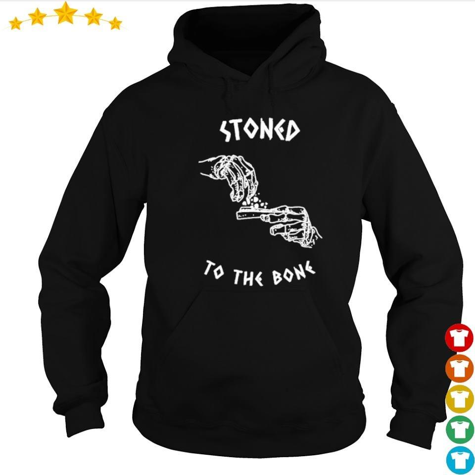 Weed lover stoned to the bone Halloween s hoodie