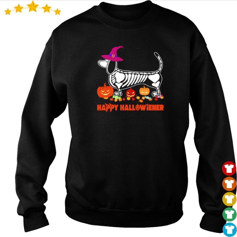 Wiener tattoo skeleton happy Hallowiener s sweater