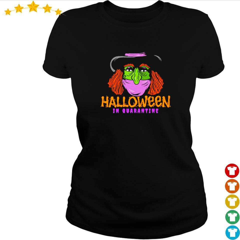 Witch wearing mask Halloween in quarantine s ladies tee