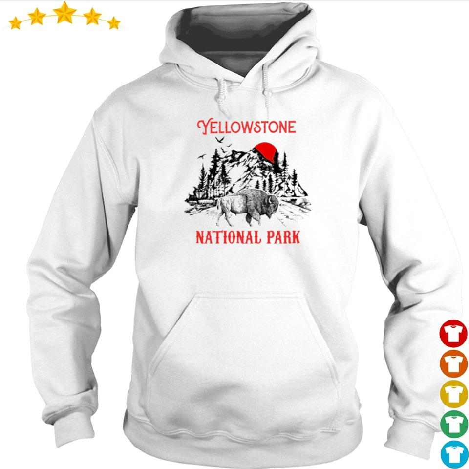 Yellowstone national park red sun s hoodie
