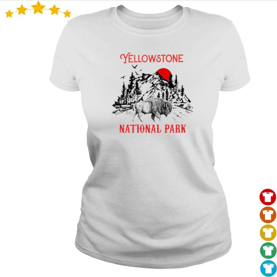 Yellowstone national park red sun s ladies