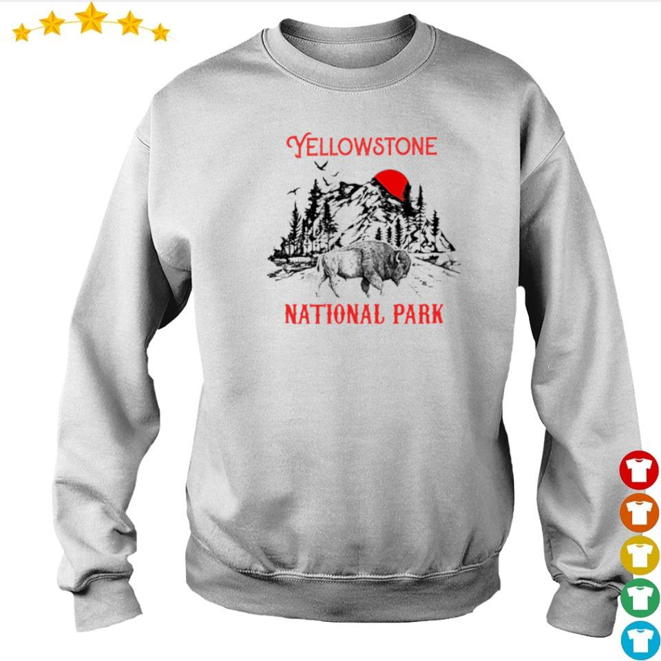 Yellowstone national park red sun s sweater