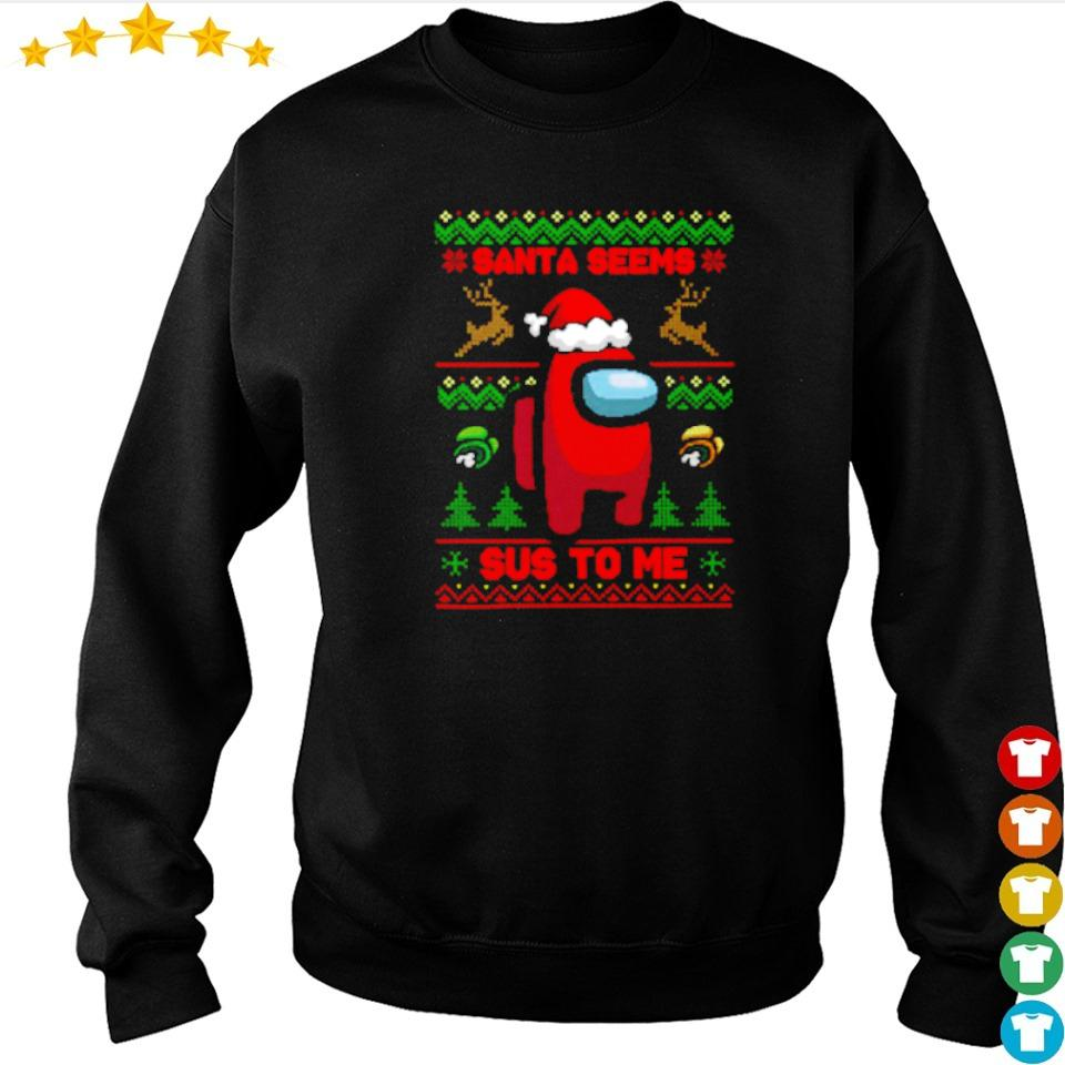 Among us Santa seems sus to me Christmas sweater