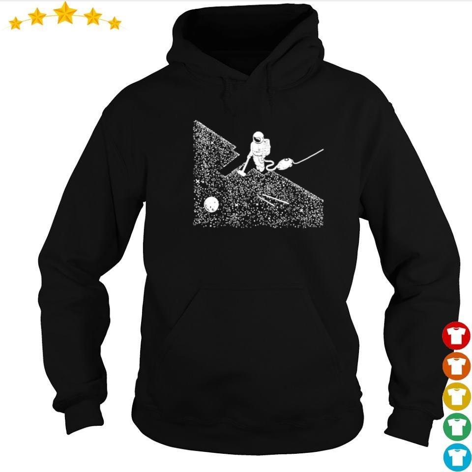 Astronaut cleaning the moon s hoodie