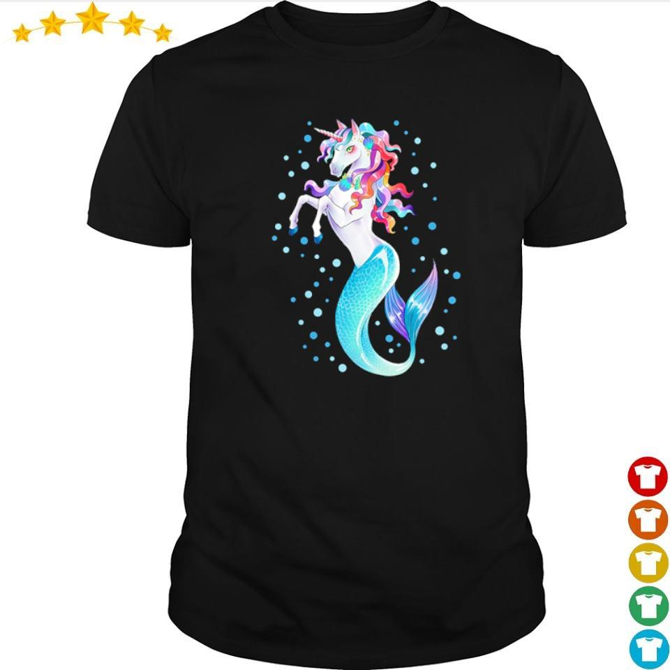 Awesome beautiful unicorn mermaid shirt