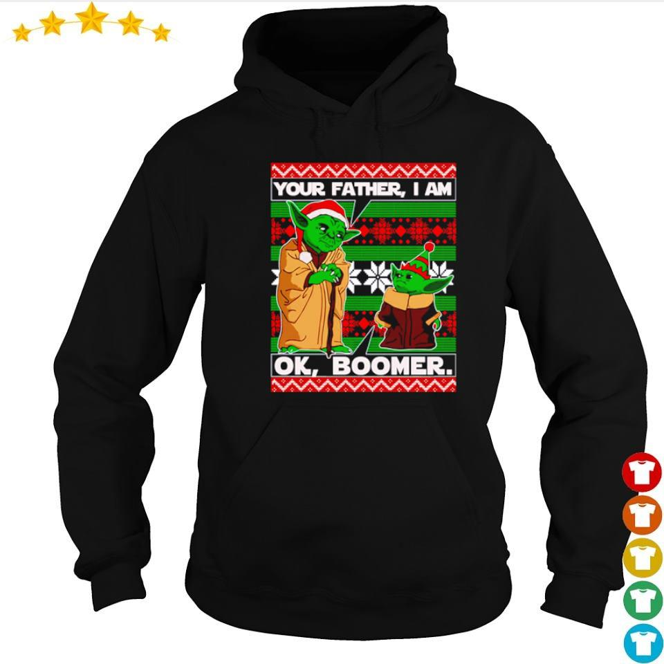 Baby Yoda your father I am ok boomer Christmas sweater hoodie