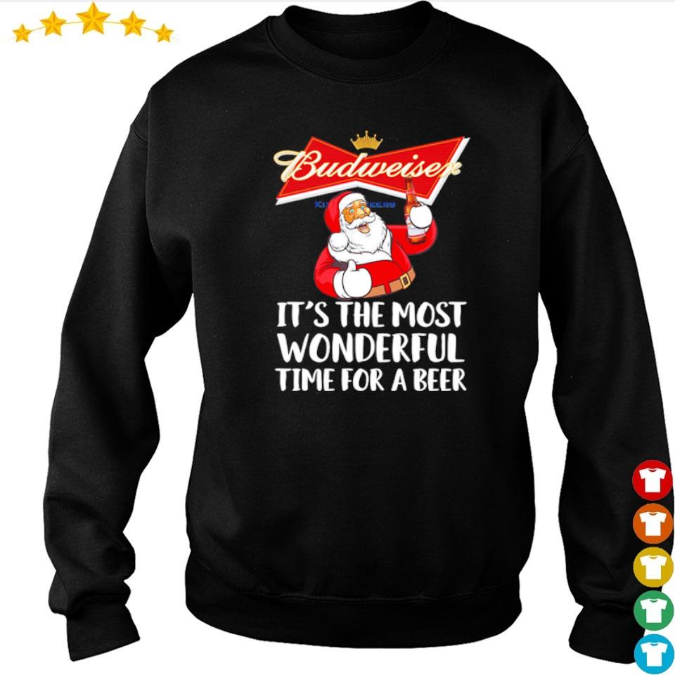 Budweiser it's the most wonderful time for a beer Christmas sweater