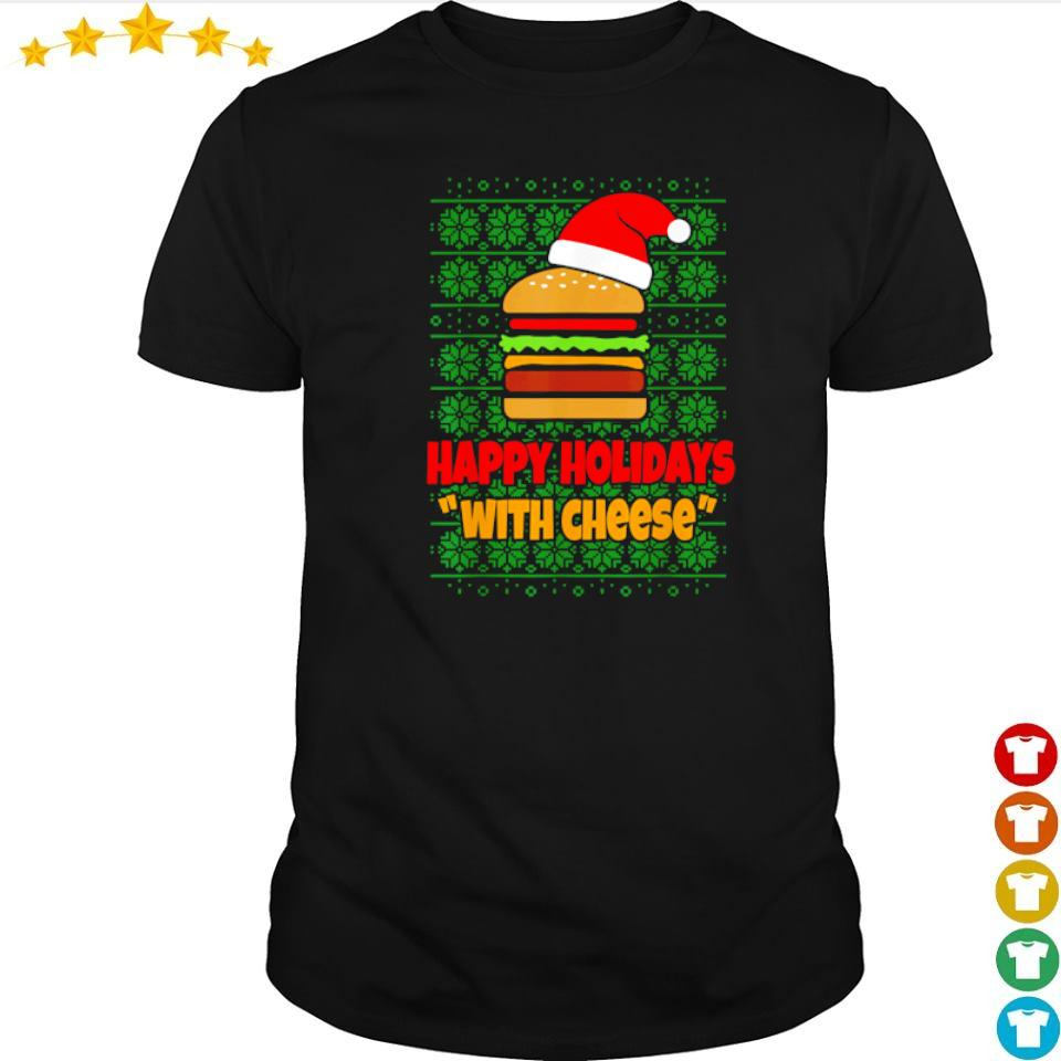 Cheeseburger happy holidays with cheese Christmas sweater