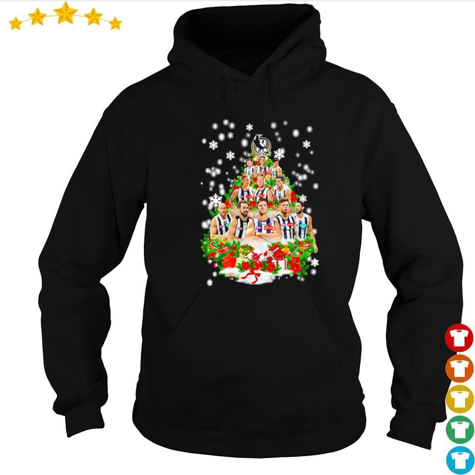 Collingwood Football Club players Christmas tree sweater hoodie