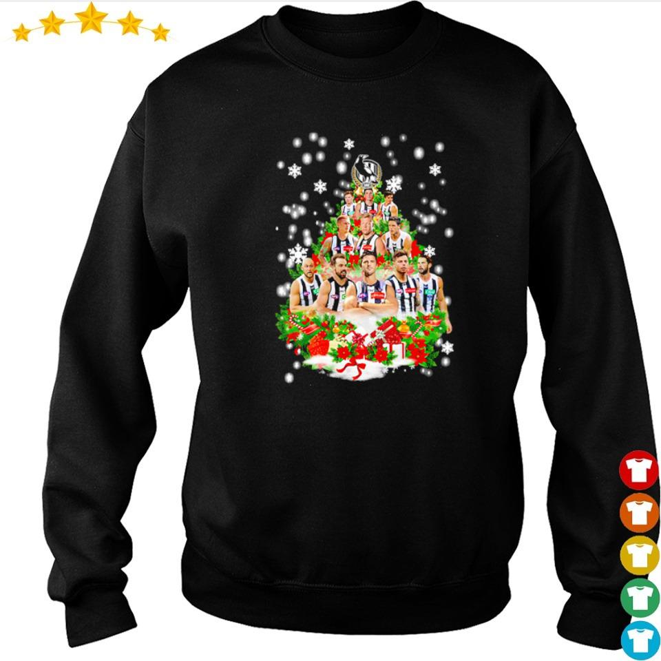 Collingwood Football Club players Christmas tree sweater