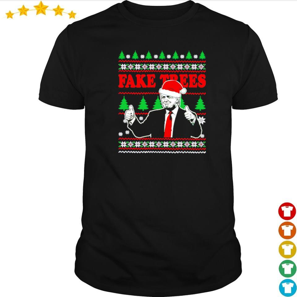 Donald Trump fake trees merry Christmas sweater shirt