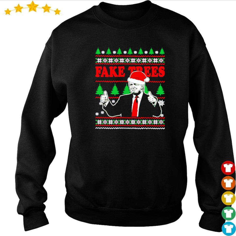 Donald Trump fake trees merry Christmas sweater