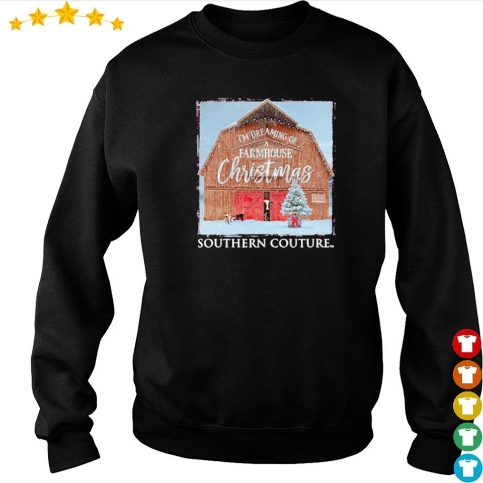 I'm dreaming of a farmhouse Christmas southern couture sweater
