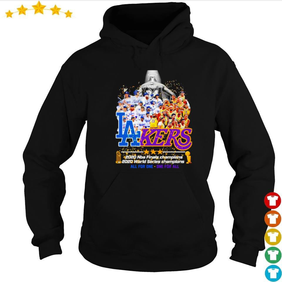 Los Angeles Dodgers and Lakers 2020 world series champions s hoodie