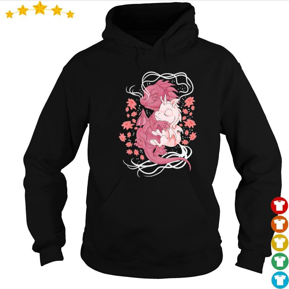 Magical baby unicorn and baby dragon s hoodie