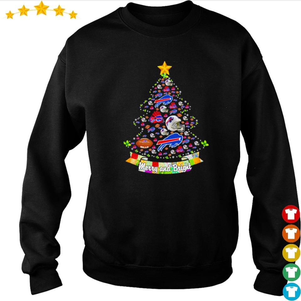 Merry and bright Buffalo Bills NFL Christmas tree sweater
