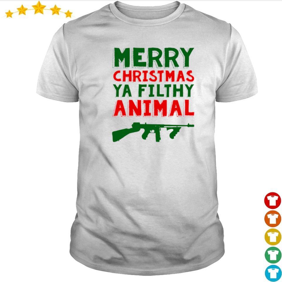 Merry Christmas ya filthy animal sweater shirt
