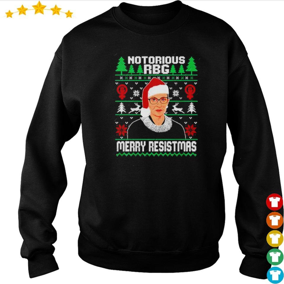 Notorious RBG merry Resistmas sweater