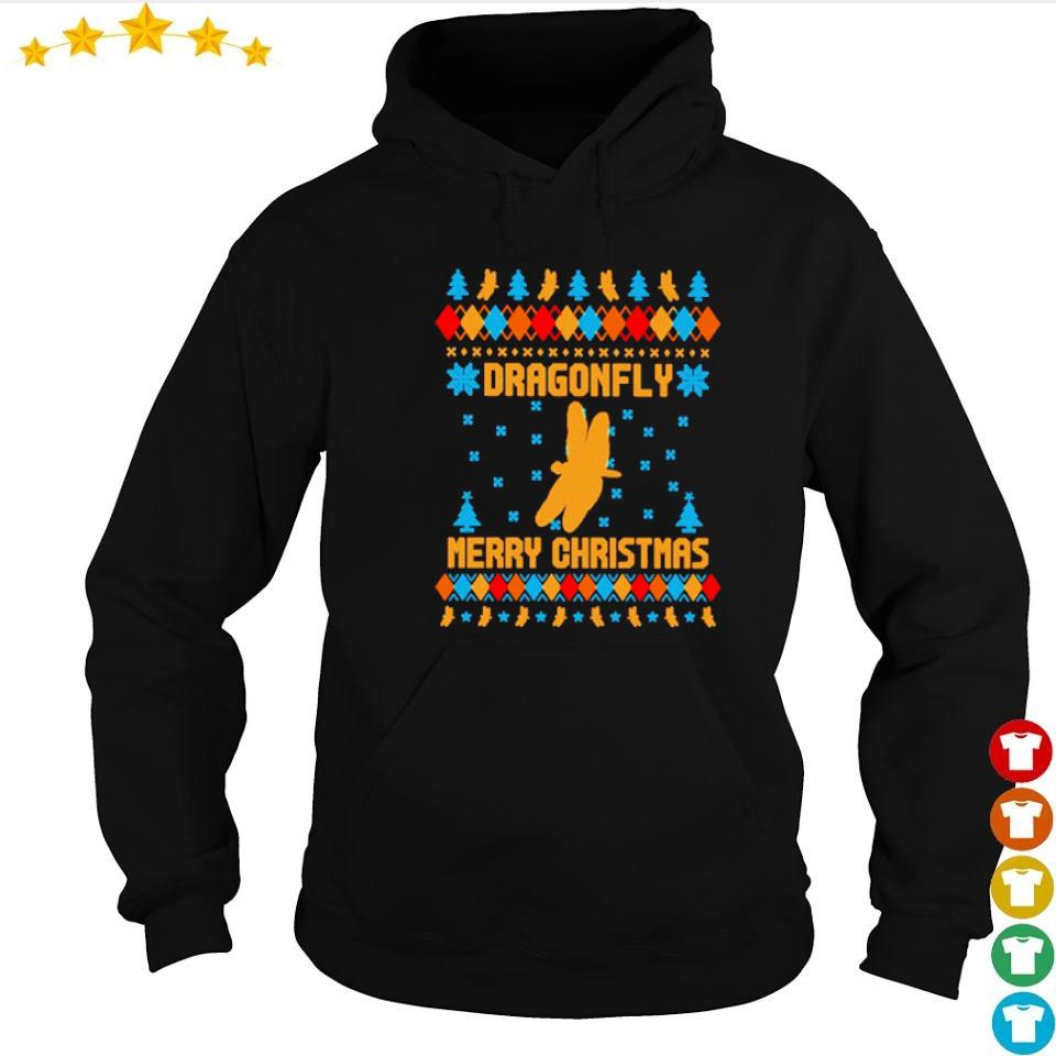 Official dragonfly merry Christmas sweater hoodie