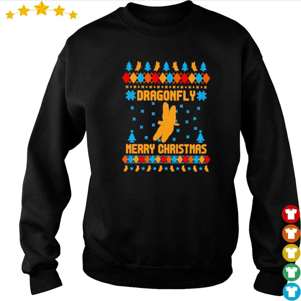 Official dragonfly merry Christmas sweater