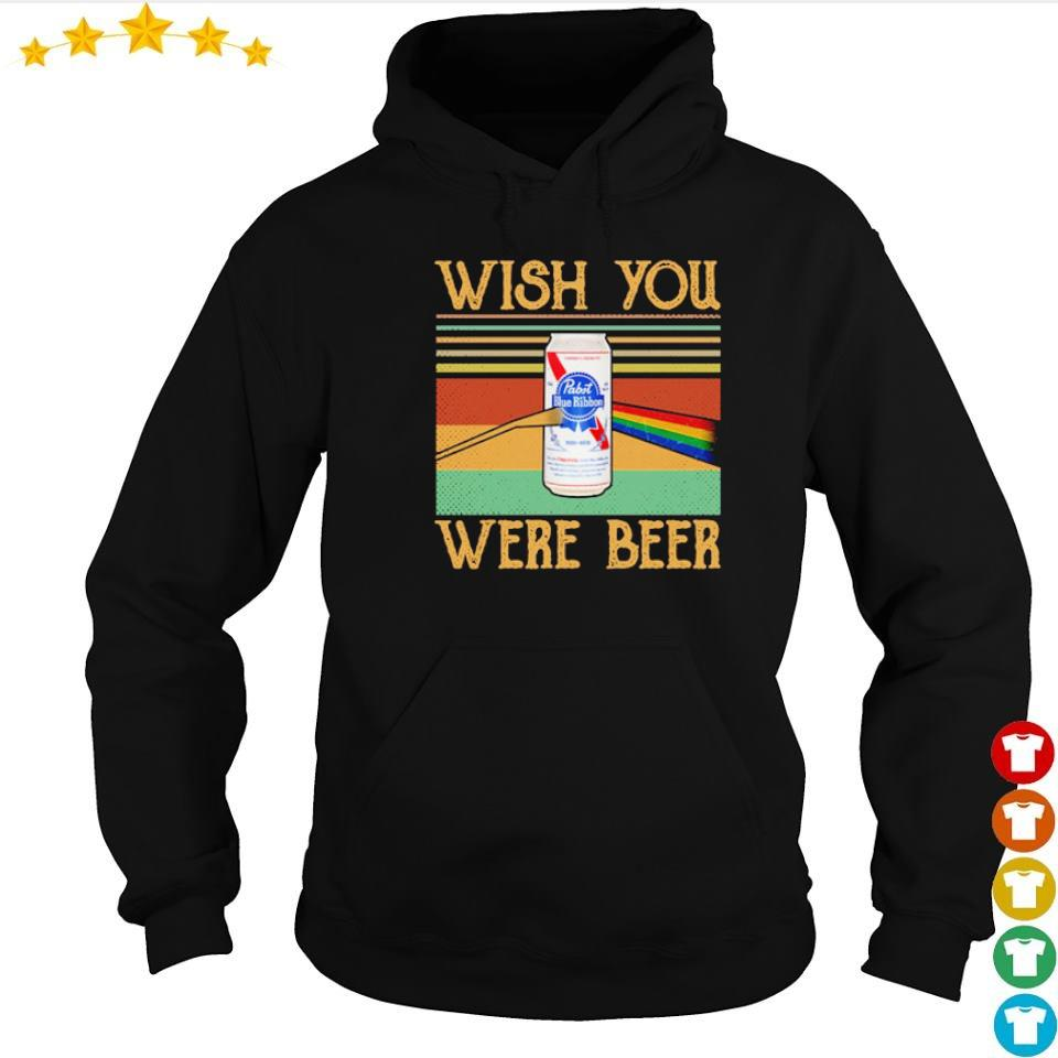 Pabist Blue Ribbon wish you were beer vintage s hoodie
