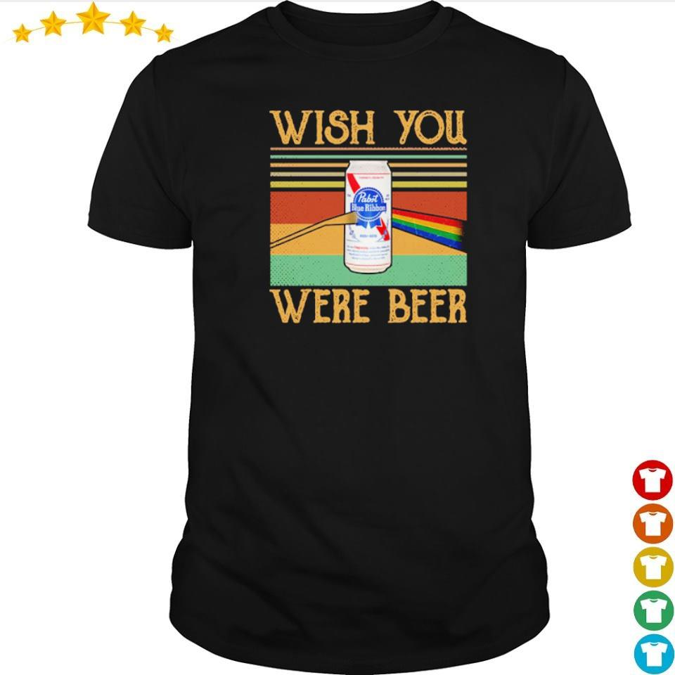Pabist Blue Ribbon wish you were beer vintage shirt
