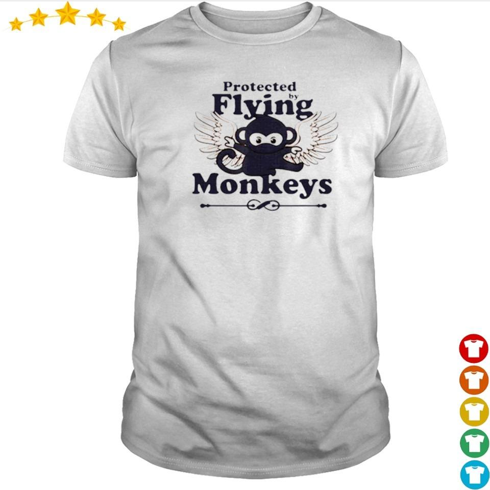 Protected by flying monkeys shirt