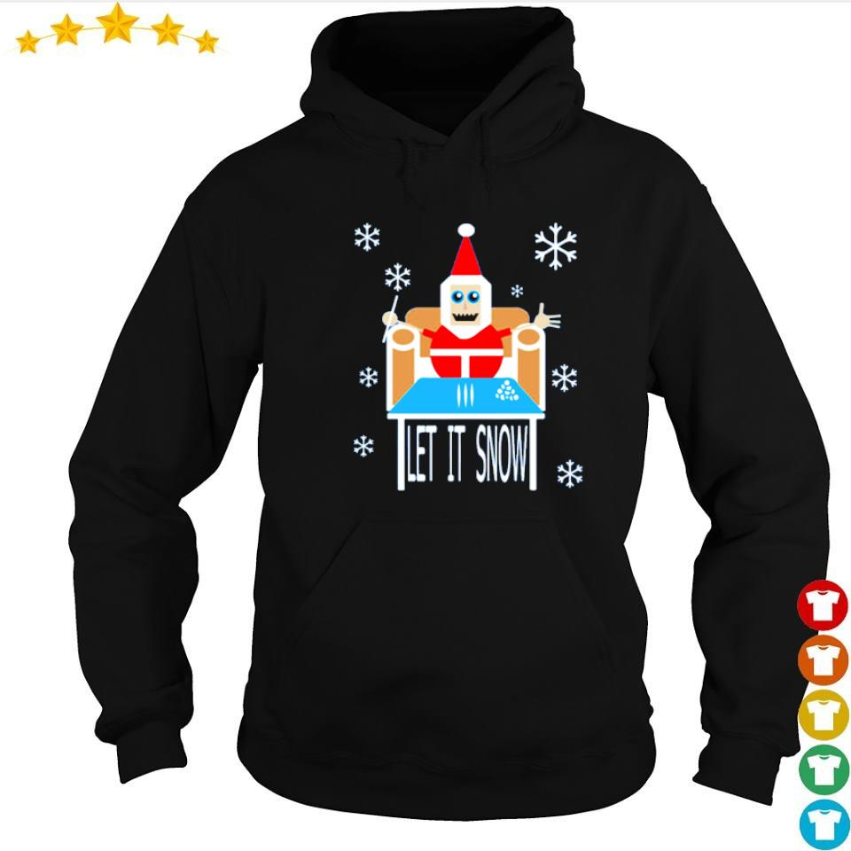 Santa cocaine let it snow merry Christmas sweater hoodie