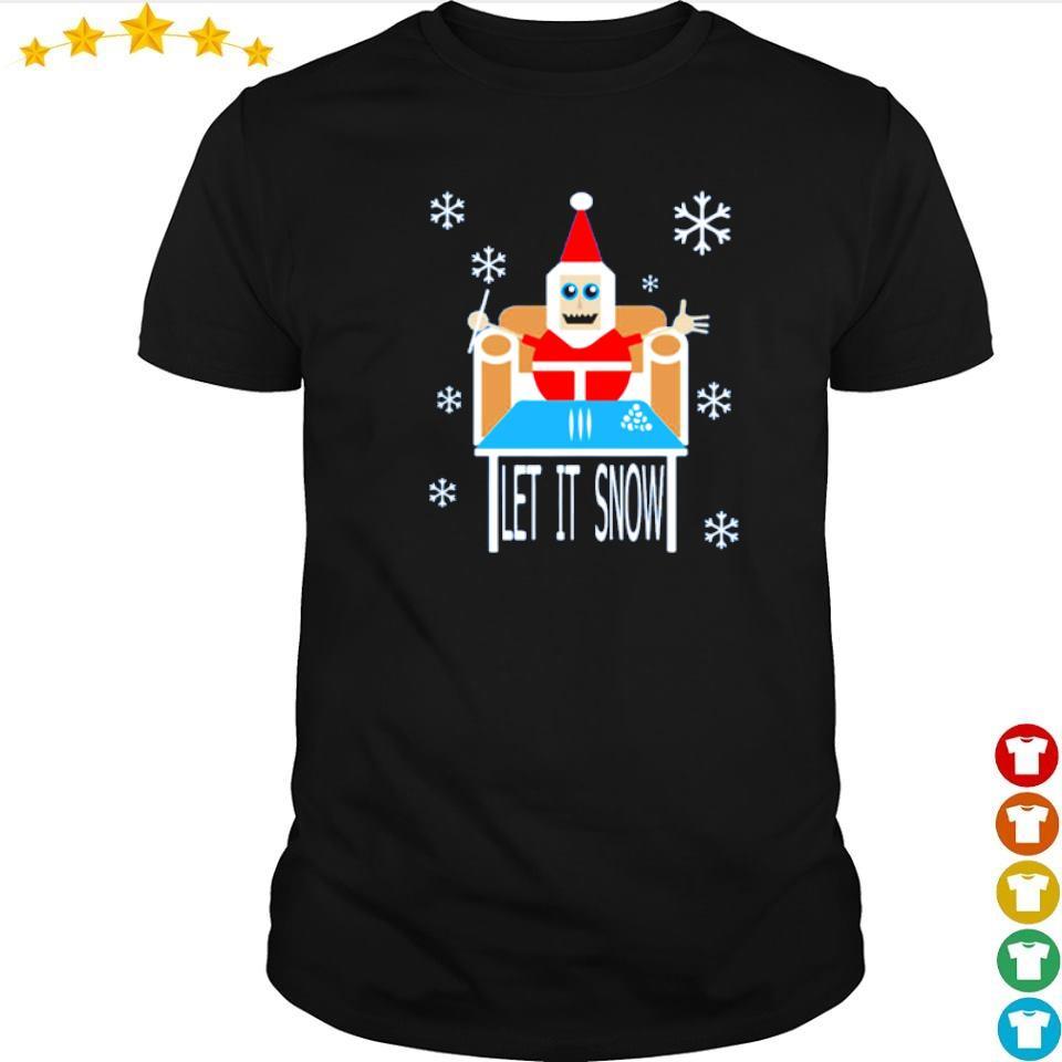 Santa cocaine let it snow merry Christmas sweater shirt