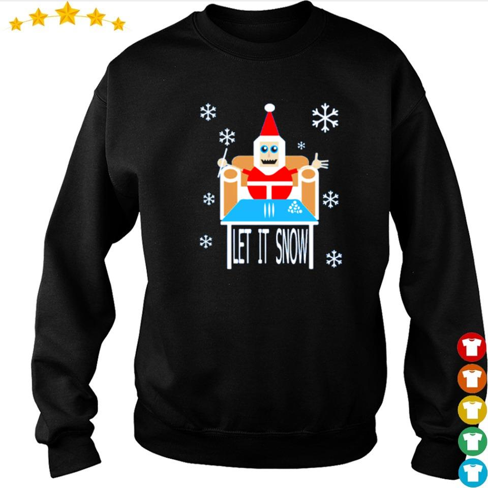 Santa cocaine let it snow merry Christmas sweater