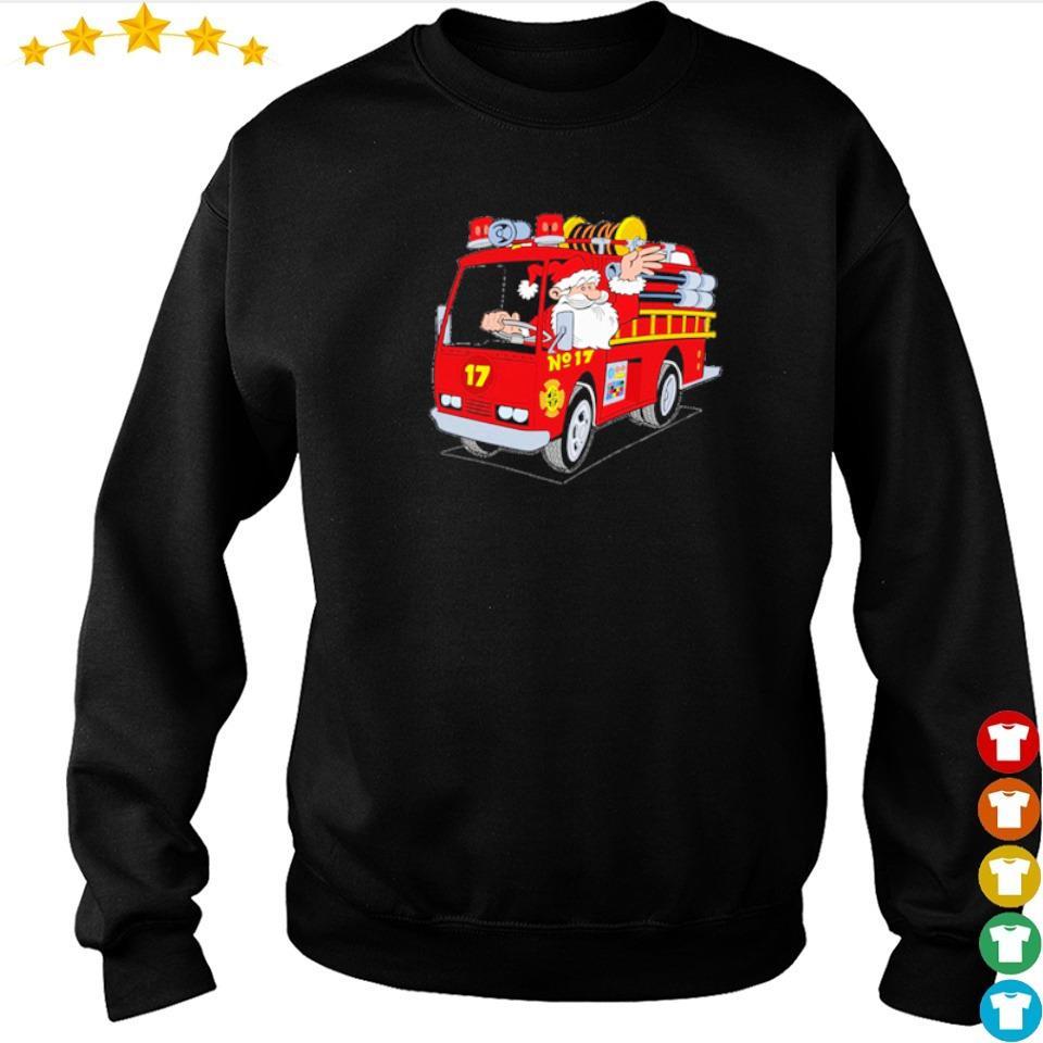 Santa firefighter merry Christmas sweater
