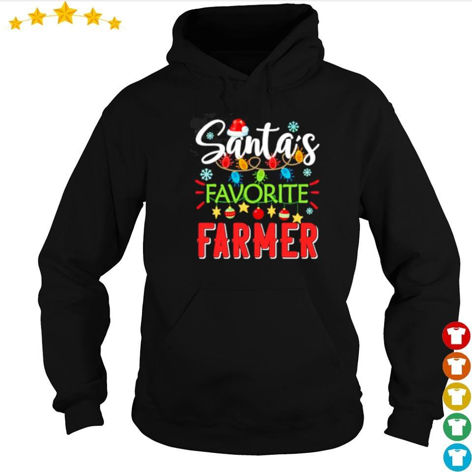 Santa's favorite farmer merry Christmas sweater hoodie