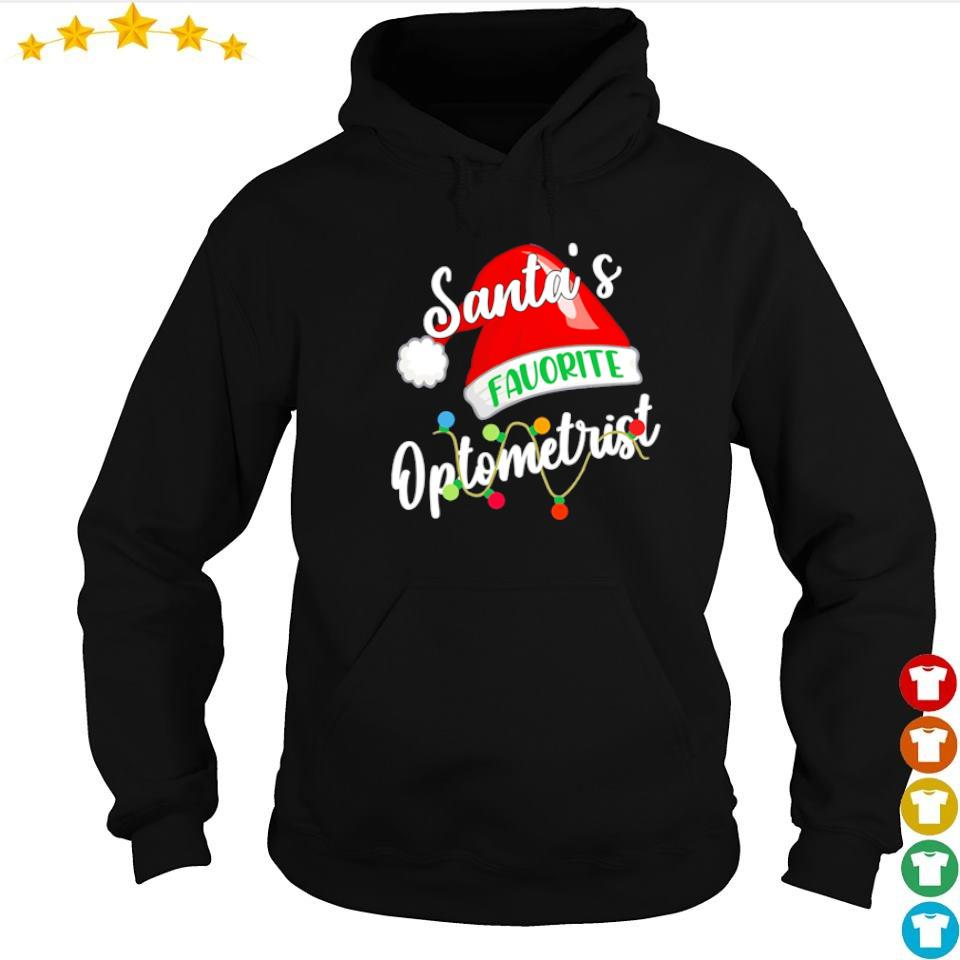 Santa's favorite optometrist merry Christmas sweater hoodie