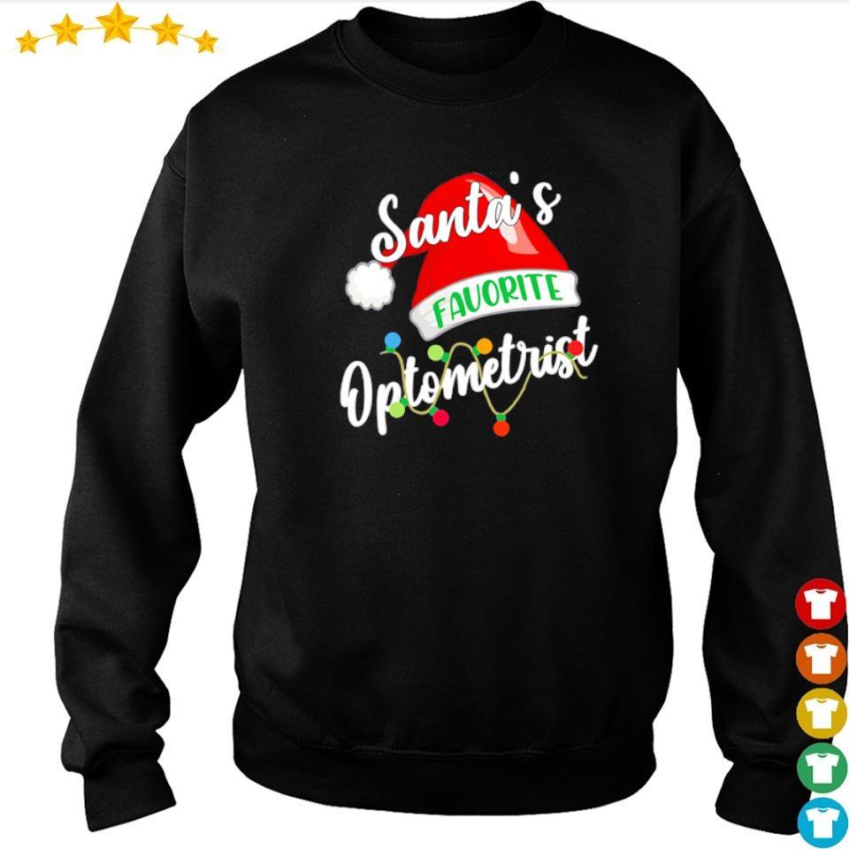 Santa's favorite optometrist merry Christmas sweater