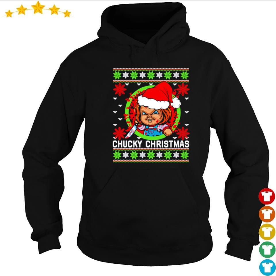Scary Chucky merry Christmas sweater hoodie
