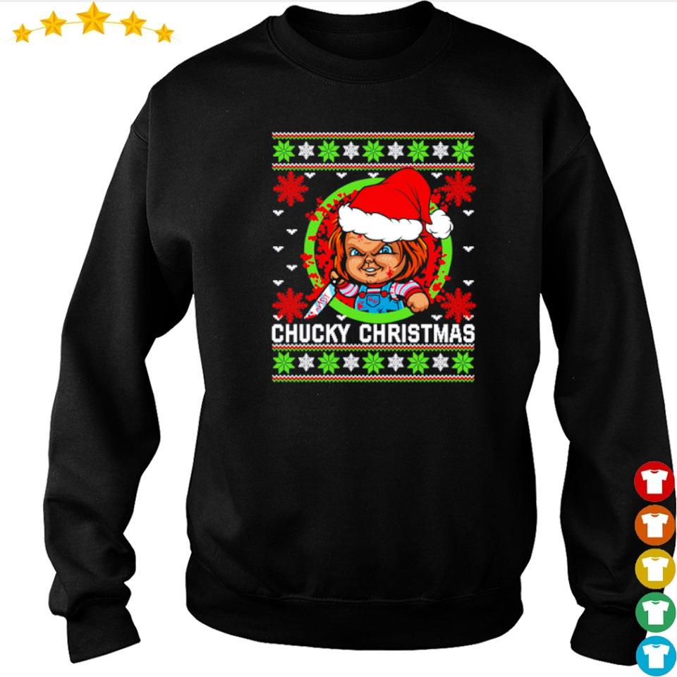 Scary Chucky merry Christmas sweater