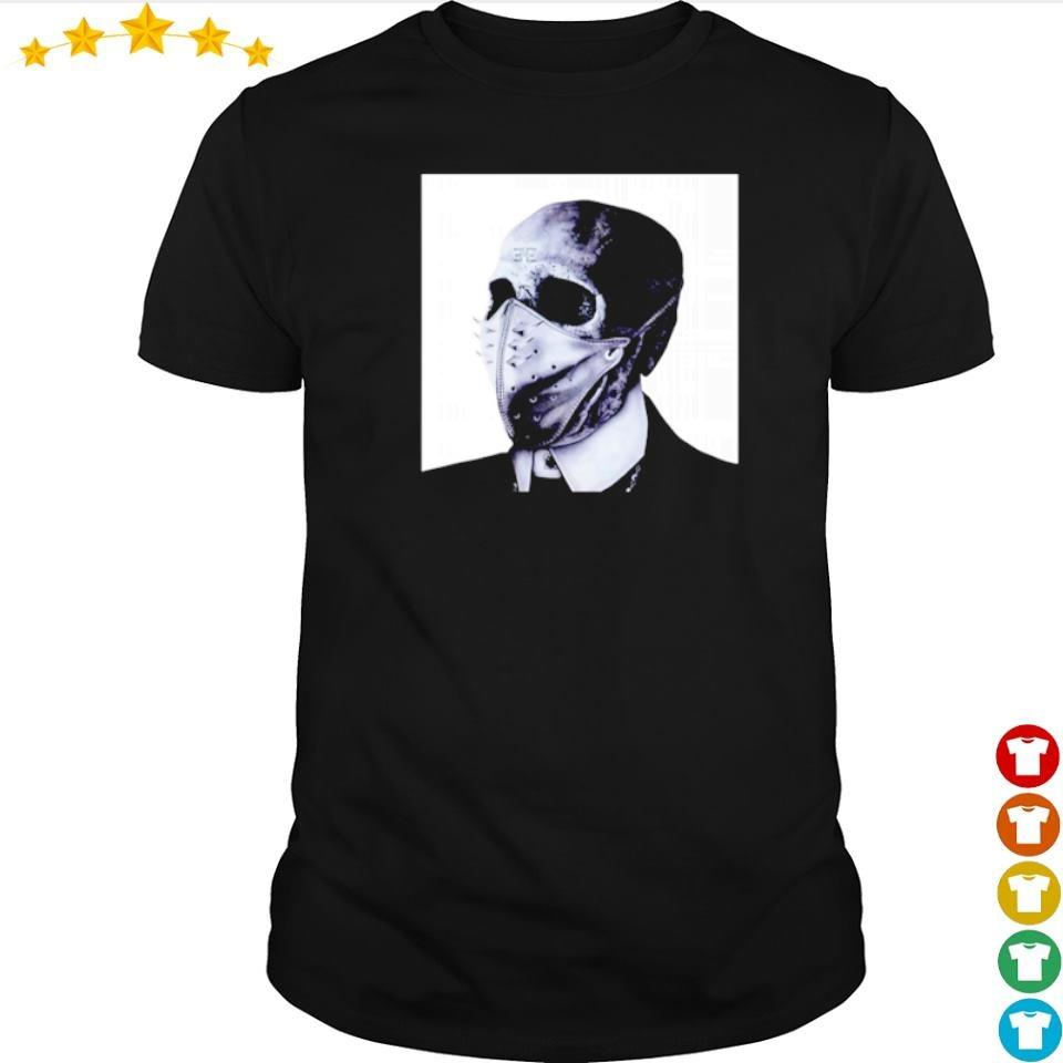 Scary skull wearing mask happy Halloween shirt