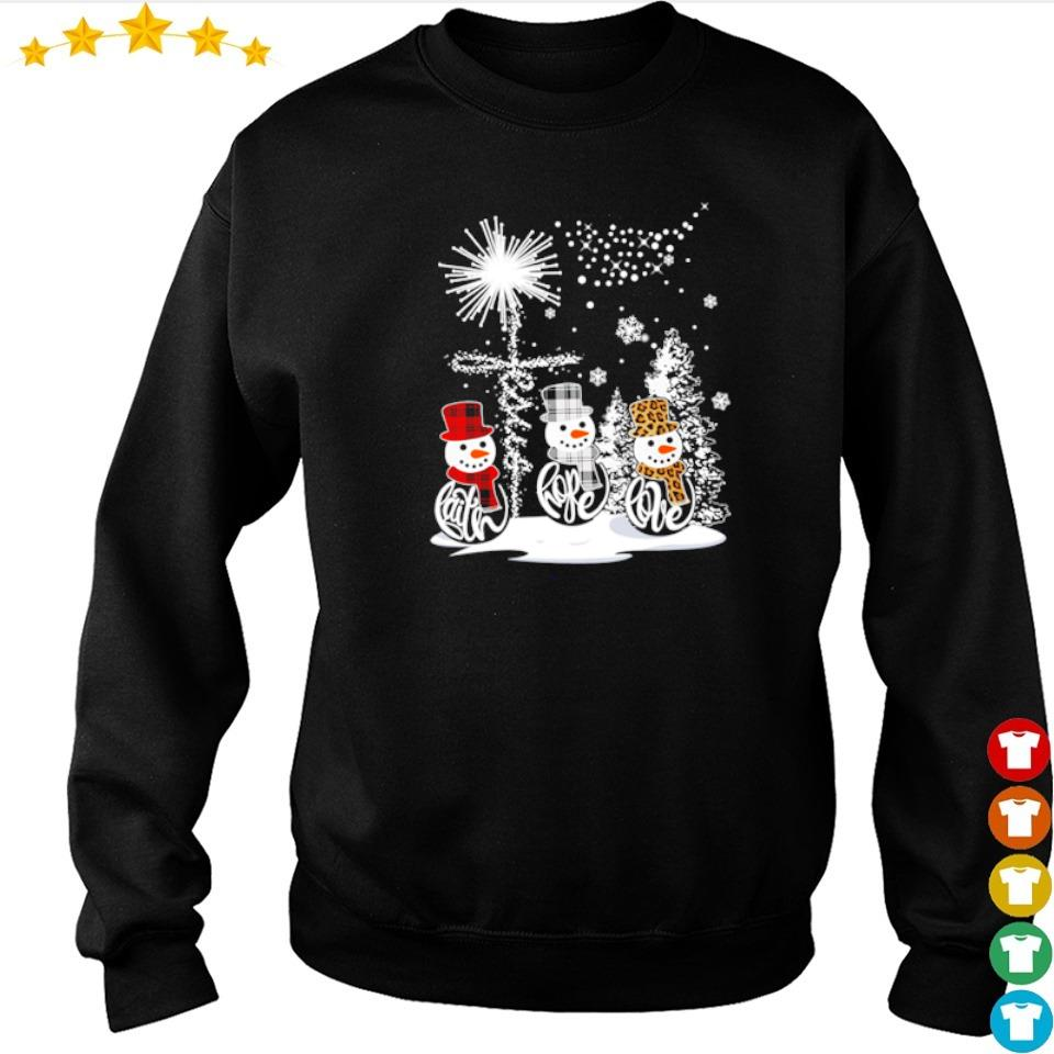 Snowman faith hope love merry Christmas sweater