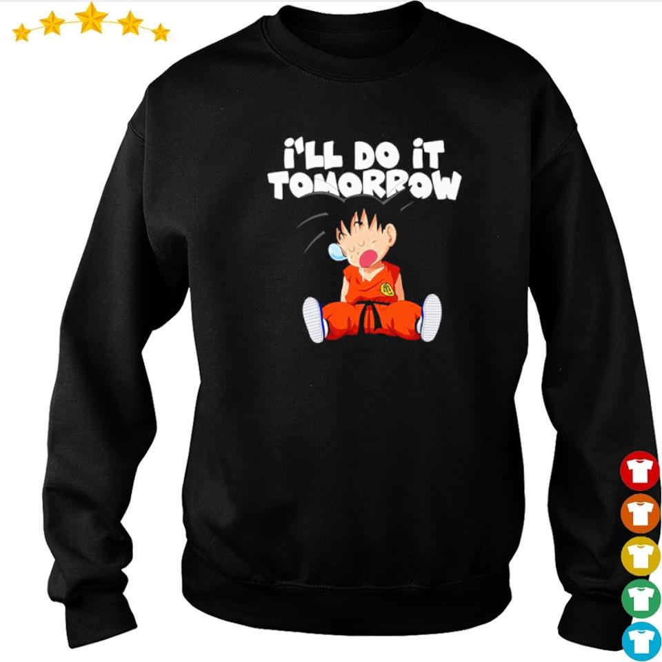 Songoku I'll do it tomorrow s sweater