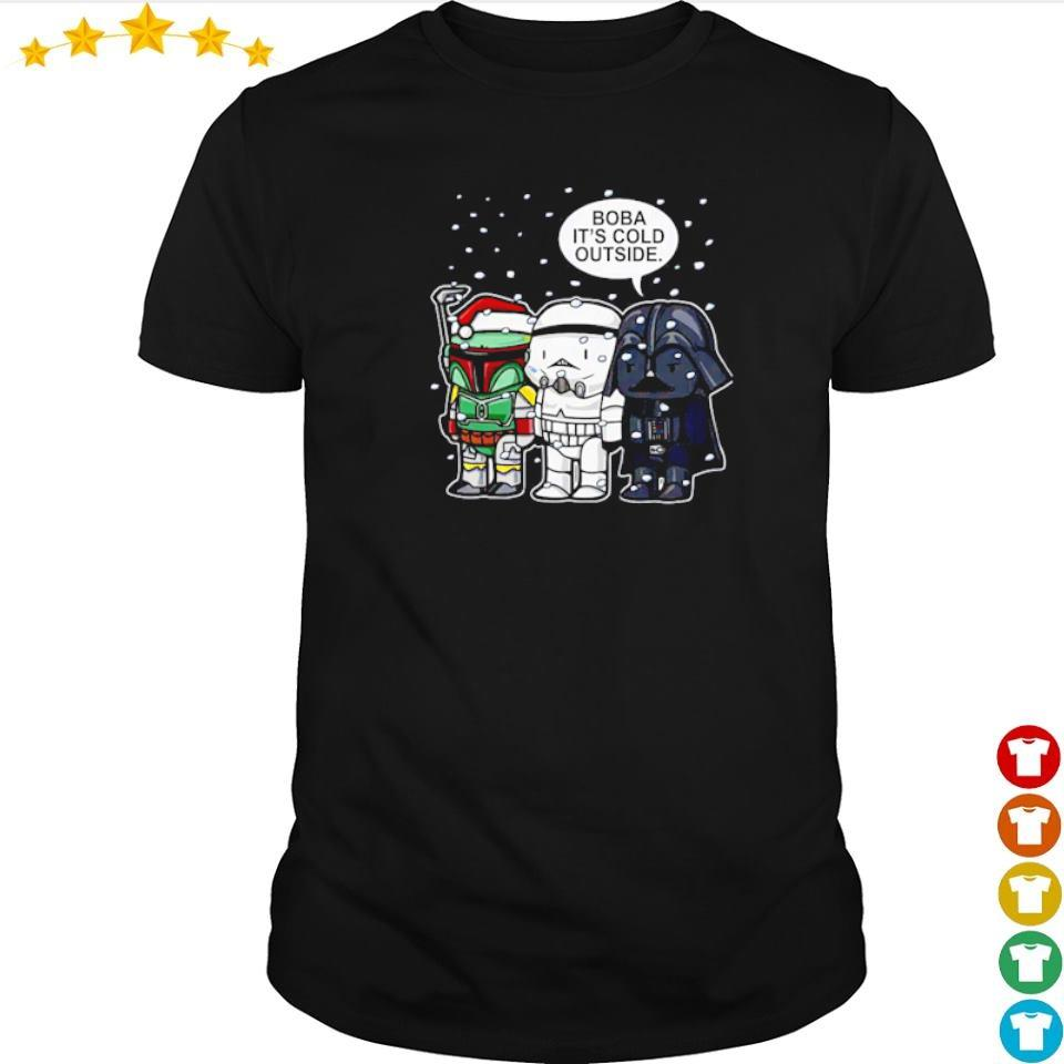 Star Wars Boba it's cold outside merry Christmas sweater shirt